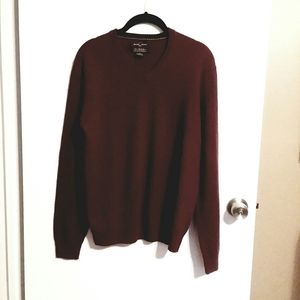 Mens Black Brown 1826 Cashmere Sweater
